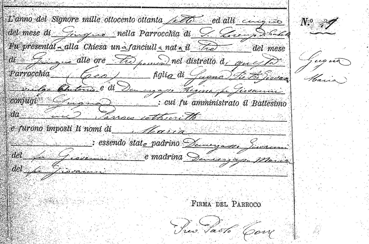 APELLIDOS ITALIANOS - Ances. S.S. Francisco