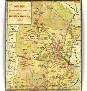 Mapa de los Ferrocarriles Argentinos de 1903